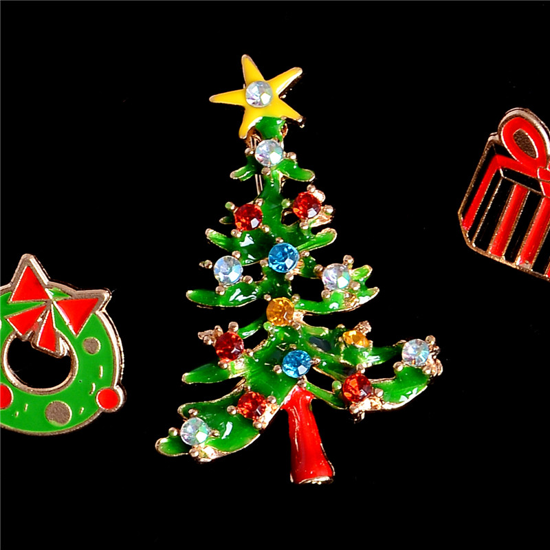 SHUANGR Fashion Christmas Tree Brooch Pin Cute Jewelry Christmas ...