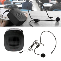 OOTDTY 2 4G Wireless Wired Mic Portable Mini Speaker Amplifier With Voice Microphone For Teaching Tour