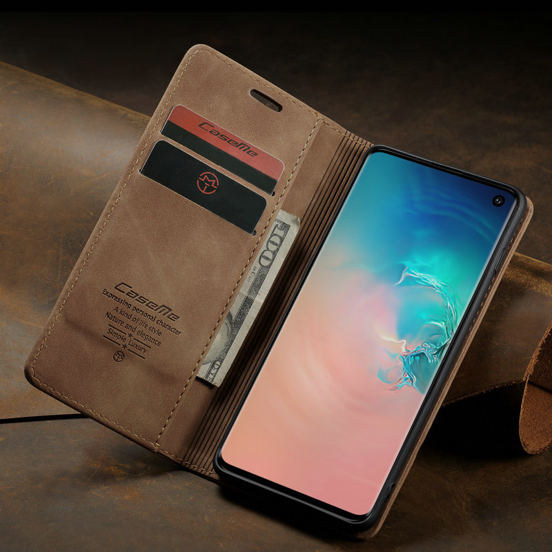 360 Magnetic Case For Samsung Galaxy S10 Plus Retro Magnetic Wallet Leather Case For Galaxy S10 E E Galaxy S10 Flip Case