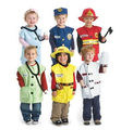 2016 HOT With free props kids children performance wear role-playing cosplay nurse doctor fireman worker police soldier costume