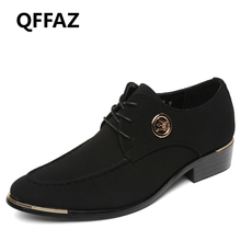 QFFAZ New Brand Arrival Spring Summer Comfortable Casual Shoes Men Shoes For Men Lace-Up British Pointed Toe Fashion Flats