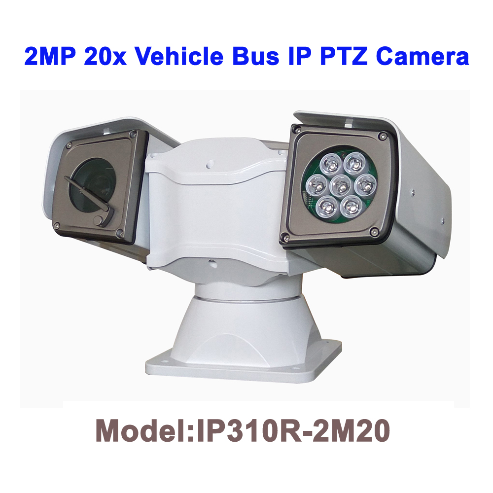 2MP 20x Zoom Night Vision 100M Waterproof Roof Rack HD IP PTZ Car Camera For Mobile Vehicle Truck Ship Boat Bus