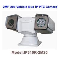 Venta 2MP 20x Zoom visión nocturna 100M impermeable techo Rack HD IP PTZ cámara de coche para