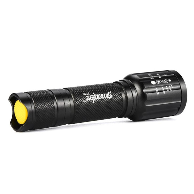 skywolfeye Flashlight on Bicycle Outdoor Sporting High Powered 5Modes Zoom Aluminum+Battery bike Accoessories for bicycle #2