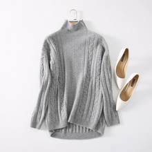 Plus Size Women's Fashion Cashmere Sweater Autumn Winter Loose Turtleneck Knitted Sweater Tops M/L/XL