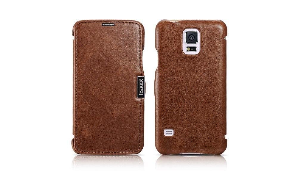 Original icarer brand Luxury flip case For Samsung galaxy S5 I9600 wallet Mobile Phone Bag Cover