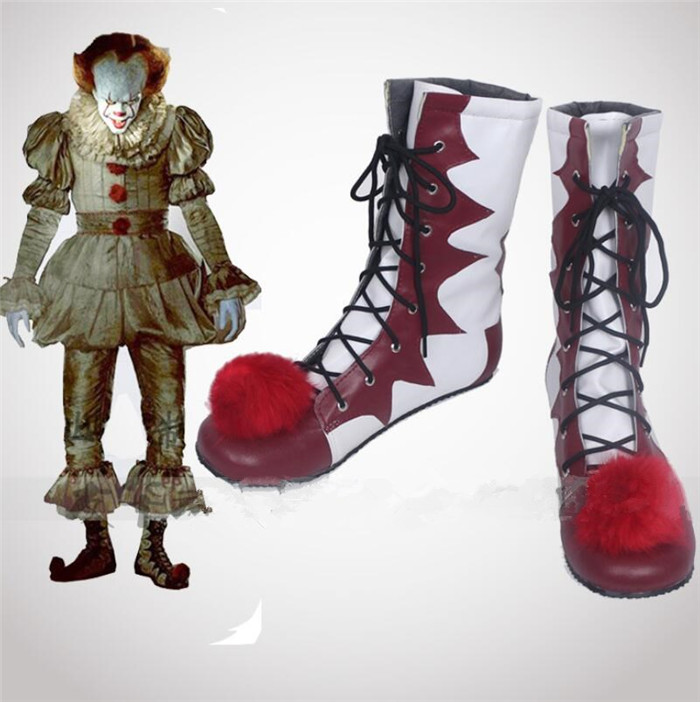 movie Stephen King IT Cosplay Shoes The Clown Pennywise Boots Halloween Cosplay shoes A527-in Shoes from Novelty & Special Use