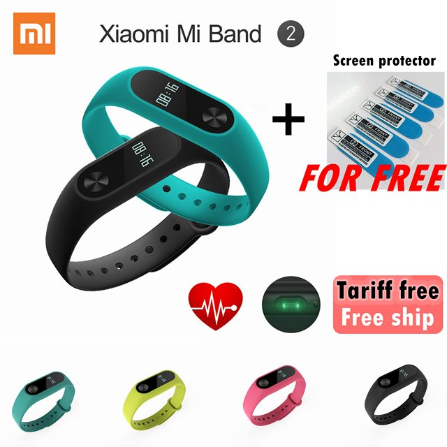 Original Xiaomi Mi Band 2 Wristband Bracelet with Smart Heart Rate Fitness Touchpad OLED Wearable Devices Mi Band 1