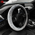 Premium Weichem Pelz Auto Lenkrad Abdeckung Hohe-dichte Warme Plüsch Winter Lenkrad Schutz Abdeckung 38cm zubehör