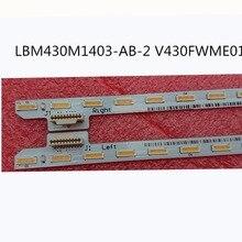 Комплект) из 2 предметов 40 светодиодов 465 мм полосы для KDL-43W805C KDL-43W809C KDL-43W807C LBM430M1403-AB-2 V430FWME01