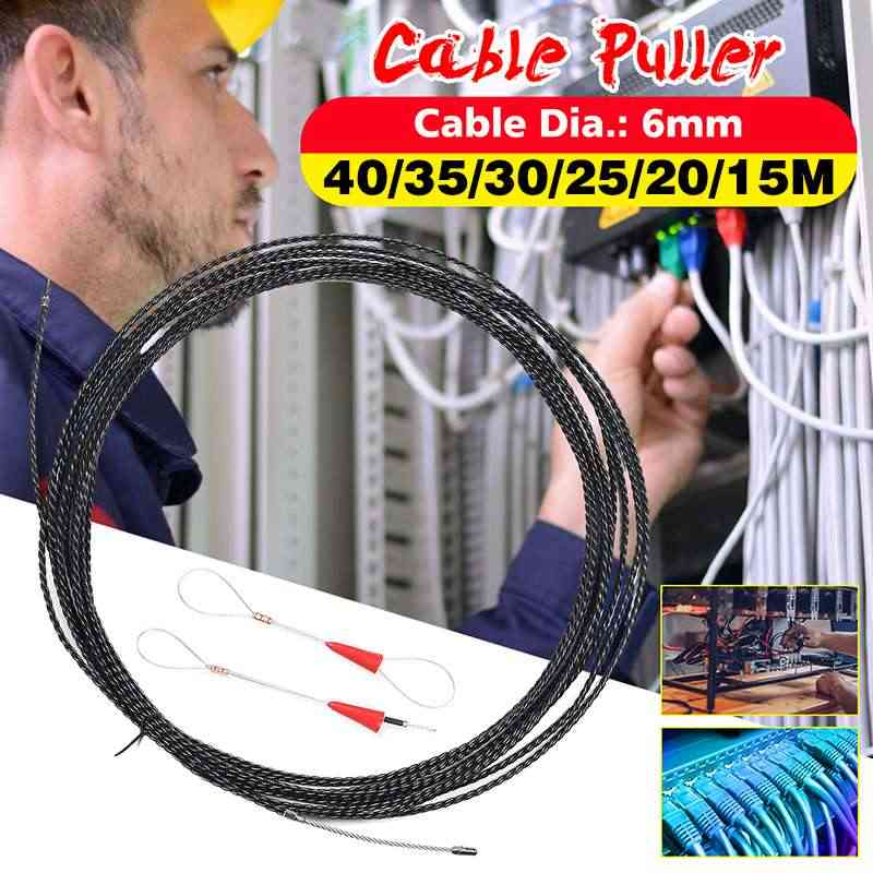 6mm 5 Meter To 40 Meter Orange Guide Device Fiber Glass Electric Cable Push Pullers Duct Snake Rodder Fish Tape Wire