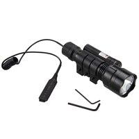 Phụ kiện xe đạp 2500LM Tactical Flashlight Torch Ánh Sáng XANH LED Ánh Sáng + Red Dot Sight Laser + sạc + pin
