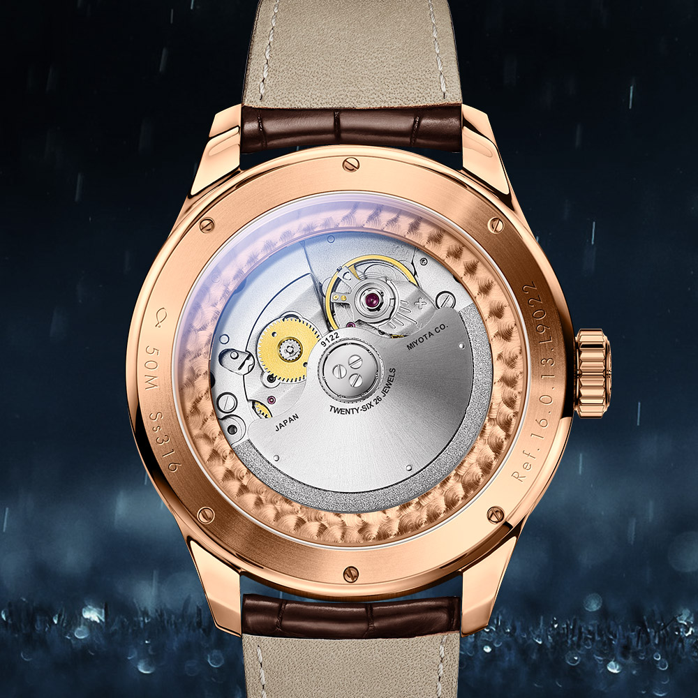 LOBINNI Men Vogue Dress Sport 50M Waterproof TACHYMETER Business Automatic Mechanical Wristwatch With Month Week Date   Rosegold-in Mechanical Watches from Watches    3