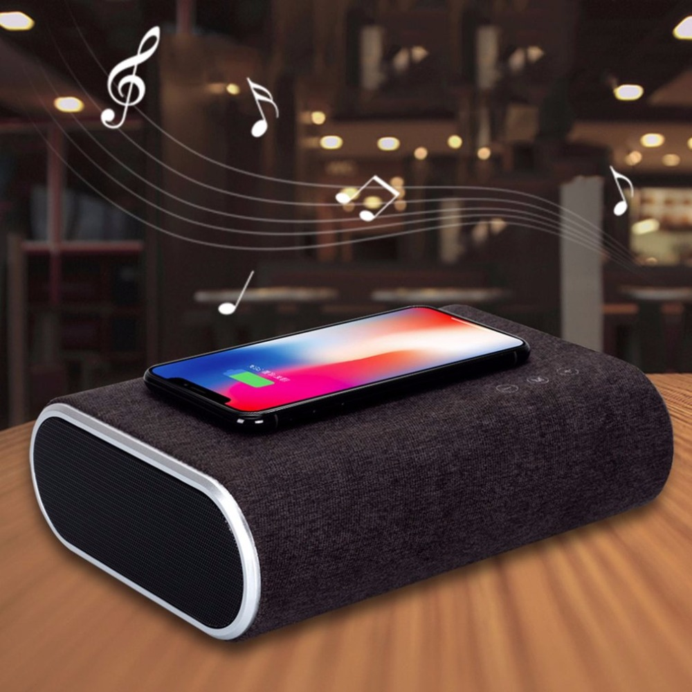 Qi Wireless Charger Bluetooth Audio Speaker Mobile Phone Charger for Iphone X 8 8plus for Samsung Galaxy S8 Plus S7 Edge S6 Qi Wireless Charger Bluetooth Audio Speaker Mobile Phone Charger for Iphone X 8 8plus for Samsung Galaxy S8 Plus S7 Edge S6