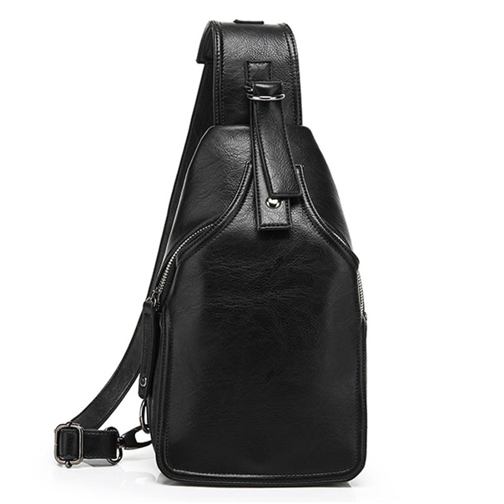 High Quality PU Leather Daypack Men Cross Body Shoulder Bags Travel Trend Riding Fashion Sling Back Pack Chest Messenger BagHigh Quality PU Leather Daypack Men Cross Body Shoulder Bags Travel Trend Riding Fashion Sling Back Pack Chest Messenger Bag