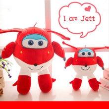 2016 Super Wings Jett Cartoon 20cm Plush Action Figure Toys Hot Peluche Doll for Baby Kids Gift Kawaii Animation Dolls