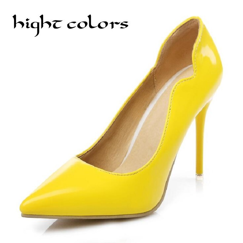 Yellow womens dress shoes