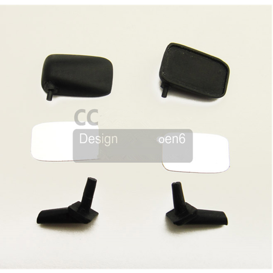 BODY SHELL REAR MIRROR KITS FIT FOR 1/10 SCALE RC CAR 4WD TF2 TAMIYA BRUISER HILUX RC TOYS DECORATION ACCESSORIES(China)