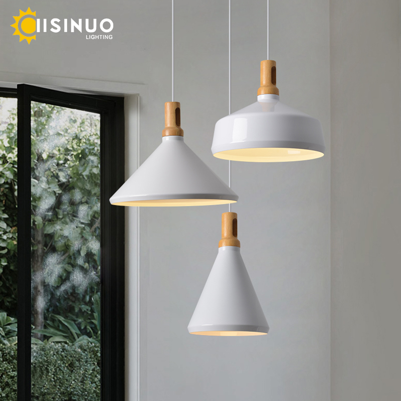 Modern Wood Pendant Light E27 Lampara Suspension Aluminum lamps shade Luminaire Dining Room Light Pendant Lamp For Home Lighting yuan cup half round pan head black grade 10 9 carbon steel hex socket head cap screw m3 m4 6 8 10 12 14 16 20 25 50