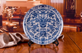Chinese Antique Blue White Porcelain Wall Decorative Ceramic Plates For Wall Hanging