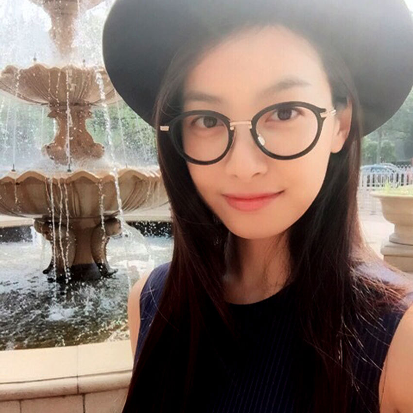 new fashion korean glasses frames high quality round eyeglasses frame women vintage clear lens glasses men lentes opticos mujer
