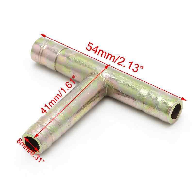 """8 ملليمتر 5/16 """"تي 3 طريقة موصل خرطوم الشائكة الهواء غاز الوقود أنابيب المياه أنابيب جديد"""