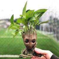 Drop Shipping Flowerpot Baby Action Figures Cute Model Kawaii Twig Guardians Vessel Antistress Tree Men Resin