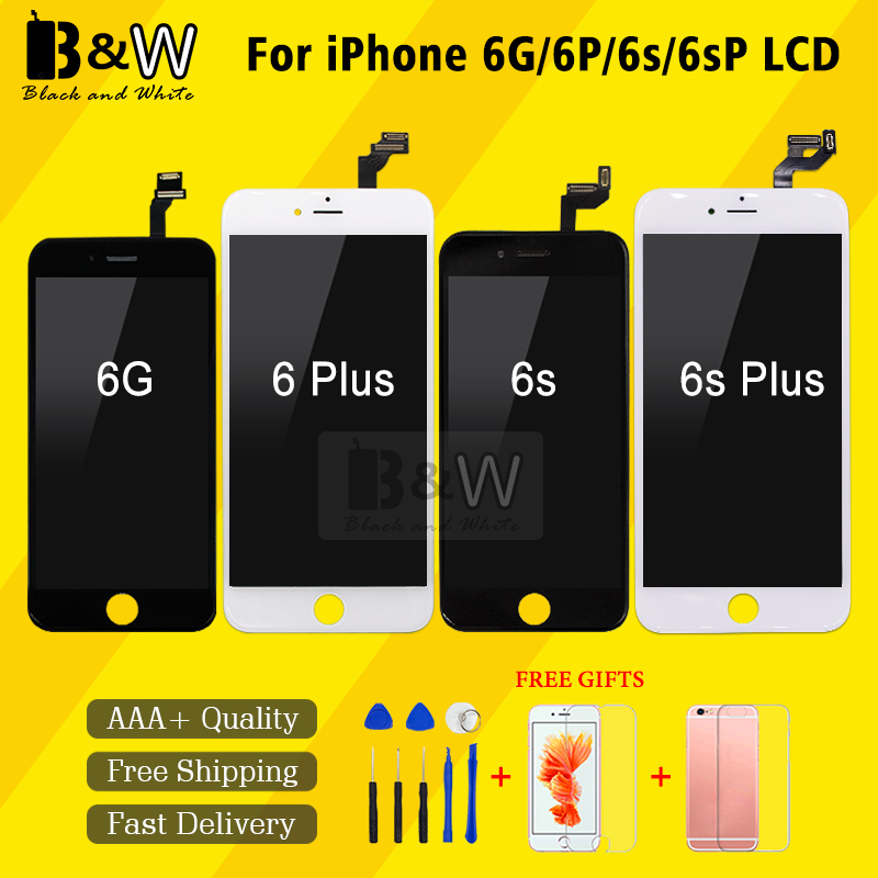 Retail Top Quality Touch Screen For iPhone 6 6 Plus 6S 6S Plus LCD Display Pantalla Digitizer Assembly Replacement+Free Tools