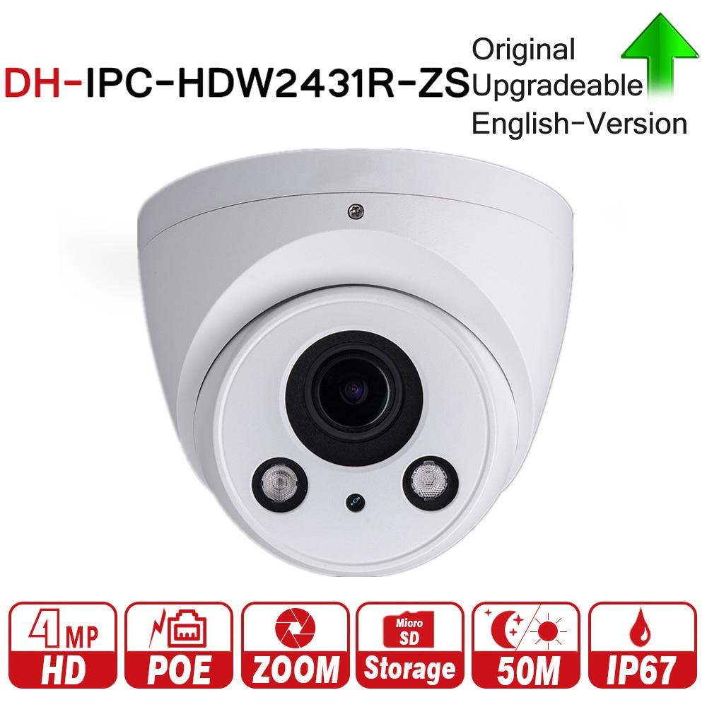 DH IPC-HDW2431R-ZS 4MP IR Eyeball Network IP Camera 2.7-13.5mm Varifocal Lens 50m IR Support Micro SD Card H.265 IP67 PoE цена