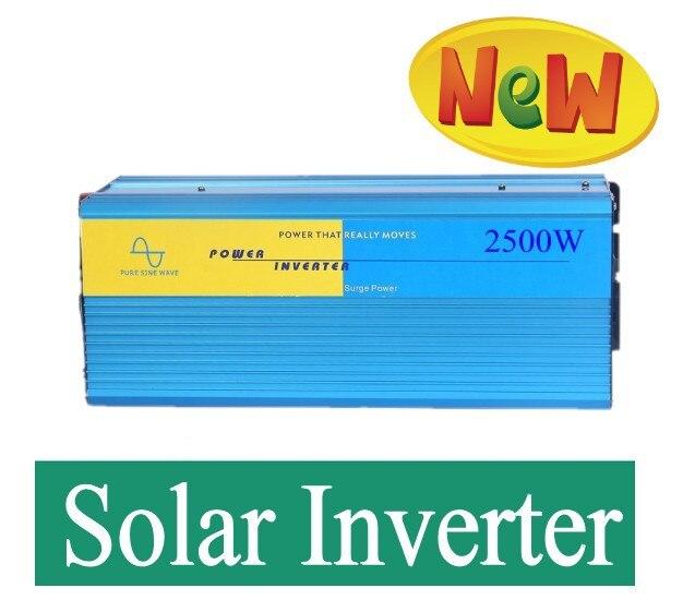 цена на Digital Display 2500w 12V/24V48V DC to 110V/220VAC 12v to 220v inverter 12v dc converter 2500w Pure Sine Wave Power Inverter