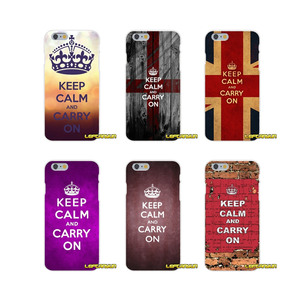 Keep Calm and Carry On Soft Silicone phone Case For Samsung Galaxy S3 S4 S5 MINI S6 S7 edge S8 Plus Note 2 3 4 5