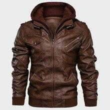 Jackets Coats Biker Motorcycle Brand-Clothing Autumn Men's Casual New PU DQ165 Eu-Size