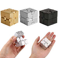 Fashion Funny Aluminum Alloy Mini Infinite Cube Finger Toy for Kids Adults Stress Anxiety Relief