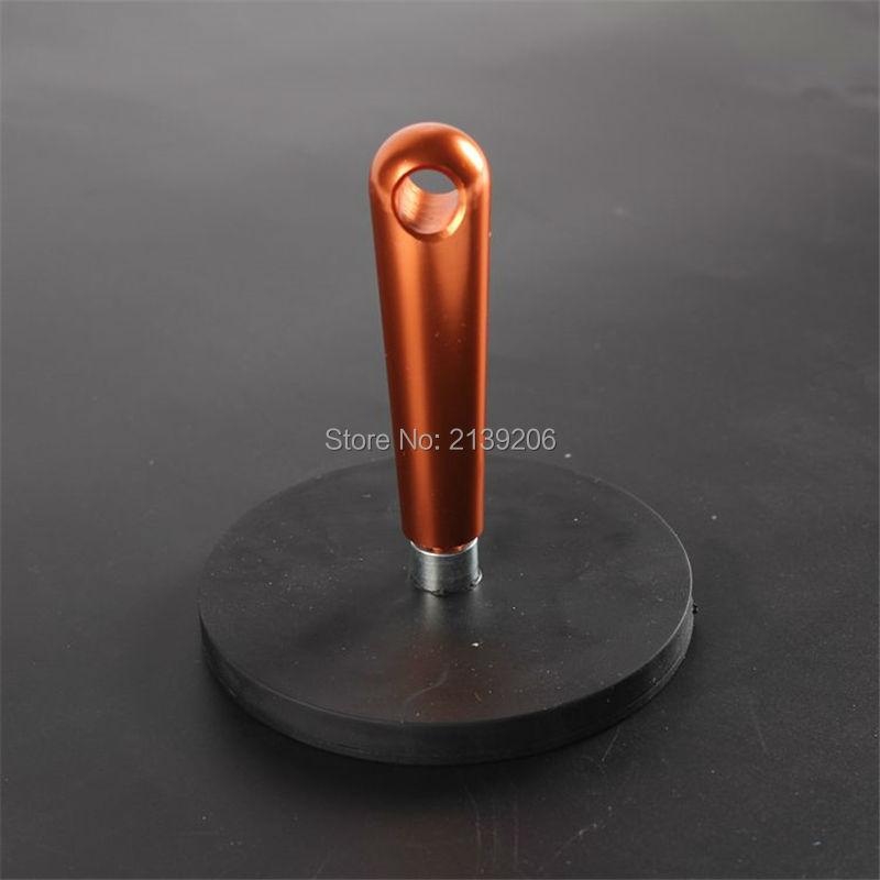2 pcs D88mm puxando vigor 42 KG punho destacável forte neodímio filme auto prendedores de borracha envolto, zero-resistente ímã