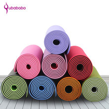 лучшая цена [QUBABOBO] 6mm High Quality TPE Yoga Mat Fitness Mat Pilates Balance Sport Non-slip Colchonete Gymnastics Dedicated Cushion