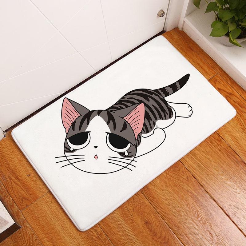 Мягкий коврик для ванной, милый домашний коврик с рисунком кота, коврики для ванной комнаты, коврики для кухни, гостиной, впитывающие Противоскользящие коврики - Цвет: 9