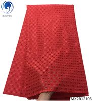 Beautifical red swiss voile lace fabric swiss lace fabric for clothes latest african laces 2018 5 yards per piece MX2R121
