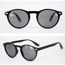 Cheap Sunglasses for women Black Round Optical Frame with po