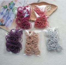100pcs/set Kids Glittering elastic hair rubber Bands Hair Accessories Candy Colors Elastics For Girls ties scrunchie