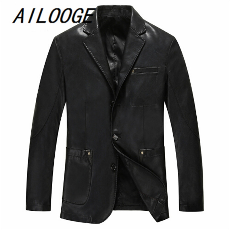 Leather Jacket Men Casual Spring Autumn PU Leather Jackets 2016 Hot Sale Motorcycle Leat ...