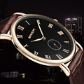 Супер тонкие кварцевые повседневные наручные часы бизнес Geneva SANDA брендовые кожаные аналоговые кварцевые часы мужские модные Relojes Hombre 2018