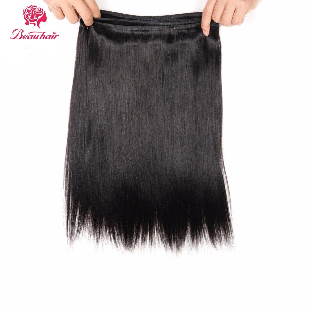 Beau Hair 8A 1B Förfärgat Människahår 3 Bundlar Med Stängning - Skönhet och hälsa - Foto 2