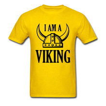 Men Funky Viking T Shirts Mens Yellow T-shirt Simple Letter Tshirt Game Of Thrones Fans Tops Plus Size Tees Custom Design Shop