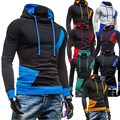 Outono inverno 2016 Nova Moda dos homens hoodies do revestimento da Marca Terno alta Qualidade roupa cardigan fino casaco de moletom com capuz homens tamanho M-XXXL