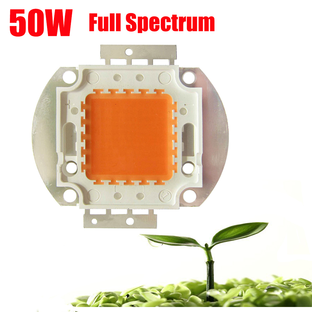 2PCS/LOT 45mil High Power 50W Full Spectrum 400~840nm SMD LED Grow Chip BridgeLux Light Lamp For Plant Grow