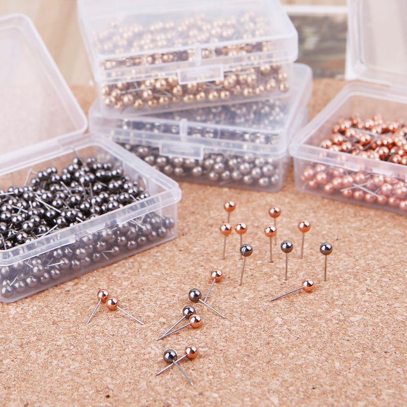 100 Pcs Colorful Assorted Push Pins Drawing Cork Board Nails Photo Wall Office School Supplies Drop Ship