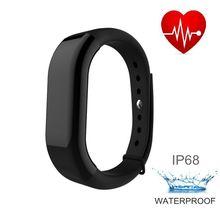 IP68 Водонепроницаемый смарт-браслеты Носимых устройств Спорт браслет шагомер запястье Монитор сердечного ритма часы мужские LF-M-00072
