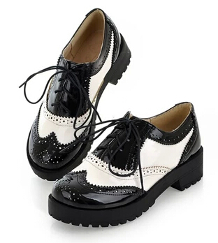 Zapatos oxford mujer blanco y negro | Ofertas y descuentos