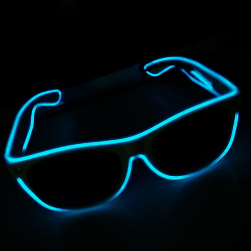 Fashion Women and Men Flashing Glasses EL Wire LED Glasses Halloween Party Eyewear Glow Sunglasses UV400 Drop Shipping H9