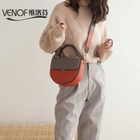 VENOF модные из натуральной кожи Плечо Сумка Через для женщин широкий бретели нижнего белья дамы сумка в виде полумесяца роскошные сумки д